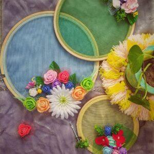Handmade Floral Hoop Designs